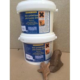 Pâte epoxy light (bois pétrissable brun ° 640 A + B -) 2x5kg