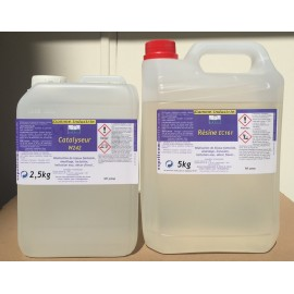 Résine epoxy EC 161 - kit 7,5kg