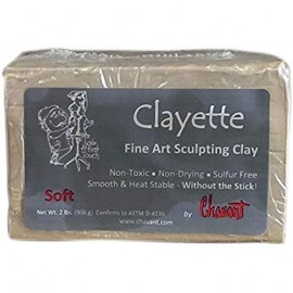 Clayette Soft Chavant Marron 906gr