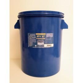 RTV 67 - 20 Kg avec 1kg catalyseur 6h